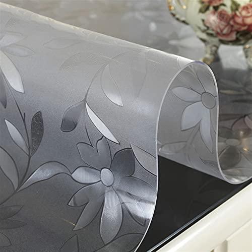 Mantel de plástico transparente 1.0 transparente esmerilado pvc suave mantel de vidrio impermeable y a prueba de aceite mesa de café