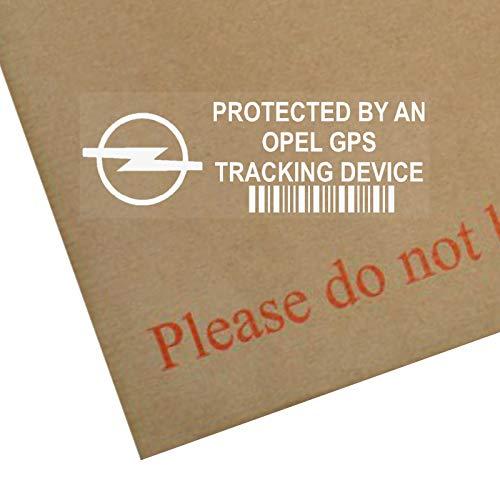 5x Opel dispositivo de seguimiento GPS Tracker Alarma de Seguridad Pegatinas para ventana 87x 30mm-car