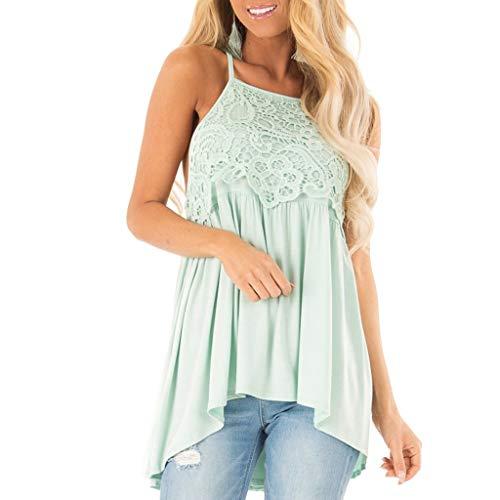 iYmitz Damen Mode ärmellose Sommer Quasten Baumwolle Mode Tops Shirt Bluse Oberteile Tee
