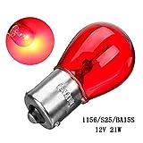 Proyector LED 12V 21W 1156 BA15S S55 CAPA DE CAJA DE CAJA DE CAJA DE CAJA DE LUCES INVERSIÓN BOMBILLA RED AUTO AUTOMÁTICA DE LA LÁMITA DE LA LÁMITA TRASERA (Emitting Color : 2pcs)