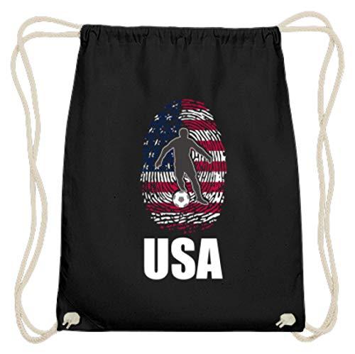 Hochwertige Baumwoll Gymsac - WM Amerika Trikot Russland 2018 Für Amerikaner Fans Fußball Fingerabdruck National Design