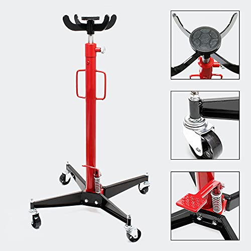 Mobiler Getriebeheber, Motorheber bis 500 kg Tragkraft, 110-192 cm Arbeitshöhe, rollbarer Lifter