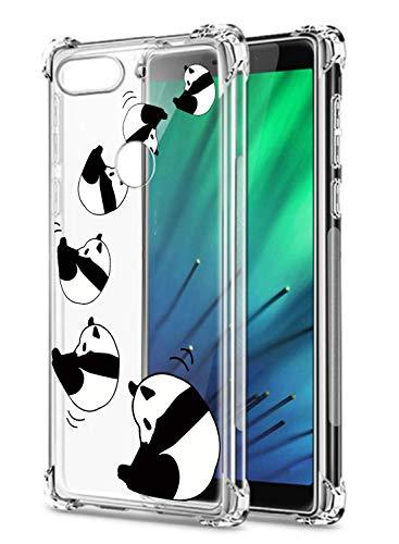 Suhctup Compatible con XiaomiMixAlpha Funda para Silicona Transparente con Dibujos Panda Diseño Patrón Cárcasa Ultra-Fina Suave TPU Choque Cojín de Esquina Parachoque Caso-Panda 7