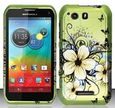 Shoparound168 Motorola Photon Q 4G LTE (Sprint) Case, Green Hawaiian Flowers Design Protective Hard Case Cover for Motorola XT897