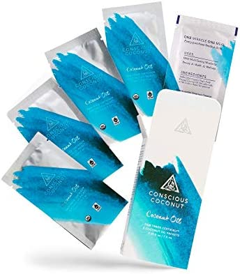 Certified Organic Fair Trade Coconut Oil Packets Cold Pressed Virgin Coconut Oil for Skin Care product image