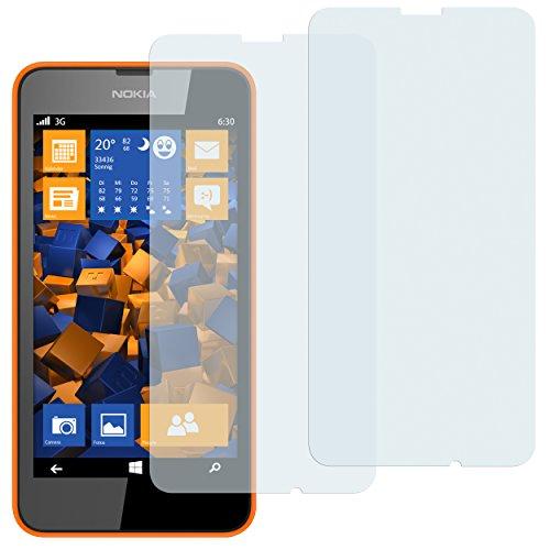 mumbi Schutzfolie kompatibel mit Nokia Lumia 630/635 Folie klar, Bildschirmschutzfolie (2X)