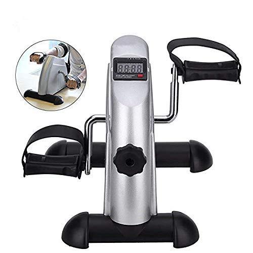 AMITD Mini Bike,Heimtrainer Mini,Armtrainer und Beintrainer,Pedaltrainer mit LED-Display Fitnessbike für Muskelaufbau, Ausdauertraining