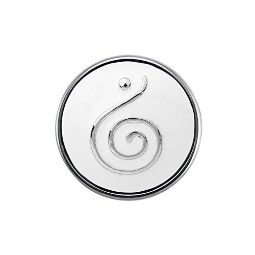 Quiges Damen Click Button 18mm Chunk Zeichen Weiß für Druckknopf Zubehör