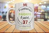 MOL3D - Taza con frases graciosas. Regalo Original 'Mi pasa tiempo favorito es pedirle consejo a 37 personas para terminar haciendo lo que yo quiera' - 350 ml
