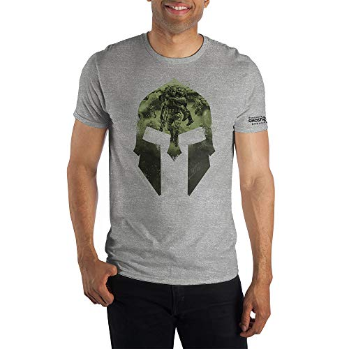 Grey Mens Ghost Recon Online Video Game Short Sleeve Shirt- Large