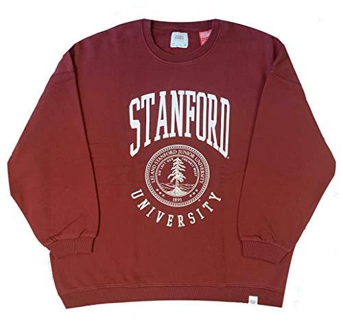 Stanford University - Escudo de Armas - Oficial Grande Salón Mujer Sudadera - Rojo, M (54in Chest)
