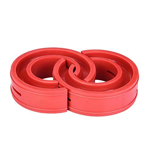 2 Unids Coche TPE Amortiguadores de Amortiguador de Resorte de Uretano Amortiguador de Goma Amortiguador de Choque del Coche de Primavera Rojo(E)