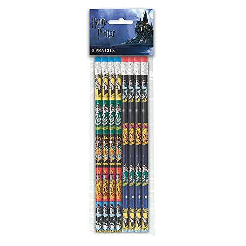 Unique Party 59069 - Jouets pour Pochette Cadeau - Des Crayons - Fête à thème Harry Potter - Paquet de 8