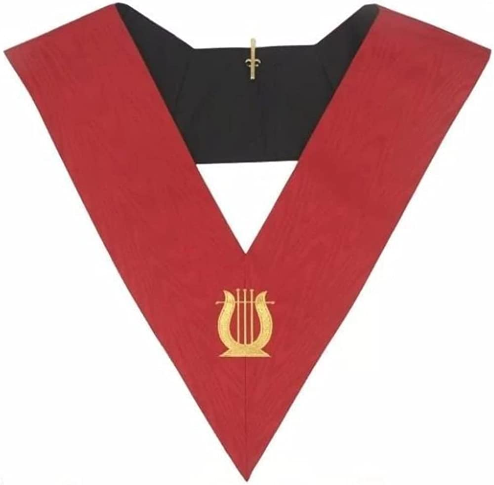 Masonic AASR collar 18th degree - Knight Rose Croix - Musician