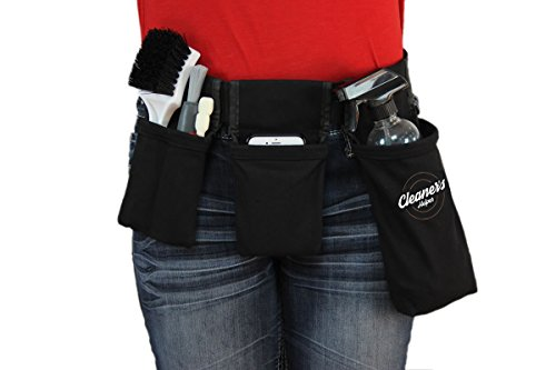 Cleaner's Helper PROFESSIONAL Tool Belt for Janitorial, Custodial, Maid, Housekeeping, Carpet Cleaning, Cleaning