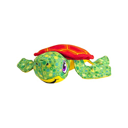Outward Hound Floatiez Turtle Floating Dog Toy for Water Play - Beach and Pool Fetch Games
