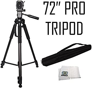 72 Inch Heavy Duty Monopod for Canon SL1 T6 T5 T3 T5i T4i T3i T2i T1i Xsi XS 60D 70D 7D 7D Mark II Professional PRO 72 Tripod 3-way Panhead Tilt Motion with Built In Bubble Leveling Indicator with Deluxe Carrying Case