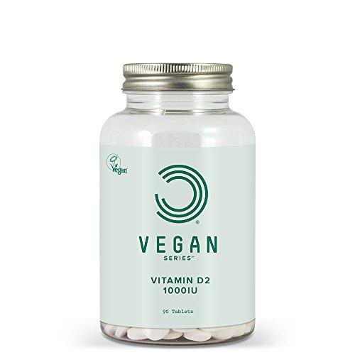 BULK POWDERS Vegan Vitamin D2 Tablets, 1000 IU, Pack of 90