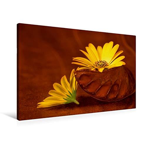 CALVENDO Premium Textil-Leinwand 90 cm x 60 cm quer, EIN Motiv aus dem Kalender BlumenART   Wandbild, Bild auf Keilrahmen, Fertigbild auf echter Leinwand, Leinwanddruck: Duo Natur Natur