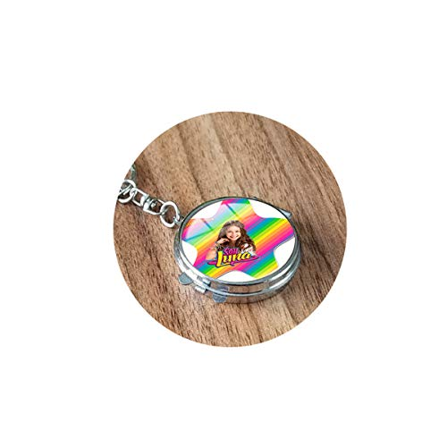 Super Popular Singer Soy Luna Necklaces Handmade Art Picture Glass Cabochon Pendant Folding Mirror Travel Portabe Customized