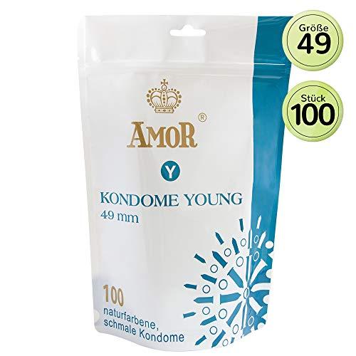 """AMOR \""""Young\"""" 100er Pack Markenkondome, für pures Gefühl, hauchzart und feucht"""