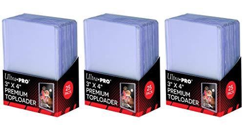 Ultra Pro 3' x 4' Super Clear Premium Toploader Card Protector  ...