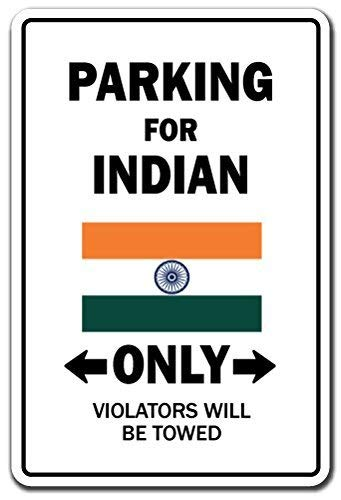 Parking voor Indian alleen Sign Indiase vlag National Pride Love aluminium metalen sign tin Plaque 12