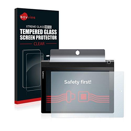 savvies Cristal Templado Compatible con Lenovo Yoga Tab 3 10 Protector Pantalla Vidrio Proteccion 9H Pelicula Anti-Huellas