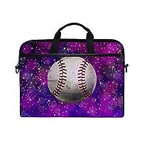 野球パープルラップトップショルダーバッグノートブックコンピュータハンドバッグケースメッセンジャーバッグは13-15.4で男性女性に適合します