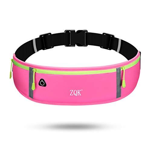 JERKKY heuptas 3 zakken loopriem mobiele telefoon tas heuptas reflecterende tas sporttas voor heren dames roze