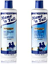 Mane 'n Tail Micellar Sulfate Free Shampoo and Conditioner Milk Biotin Infused 11.2 Ounce Each Vegan Formula