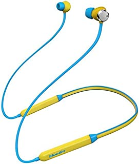 D DOLITY Bluetooth V4.2 Headphones Active Noise Cancelling Wireless Outdoor Sports Headset Handsfree in Ear Earbuds with Mic, 12 Hours Playtime - Yellow