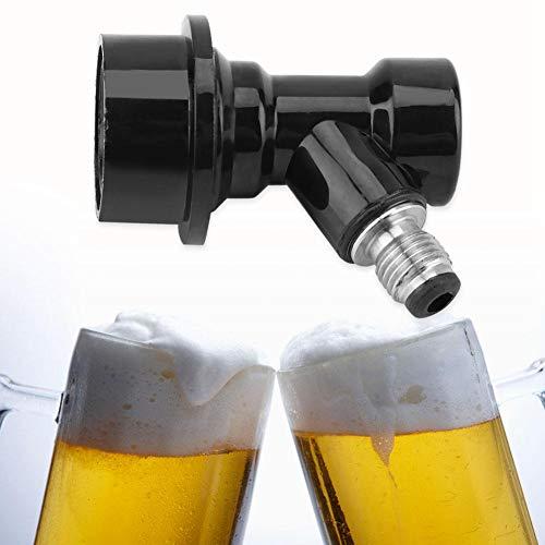 Ball Lock Liquid Disconnect, Kit de déconnexion de verrouillage à billes en plastique + acier inoxydable pour connecteurs de liquide Homebrew Beer Soda Corny Keg Liquid(Noir)