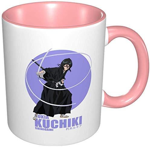 Bernice Winifred Anime 3D Muster Shinigami Kuchiki Rukia Keramik Kaffeetassen-Pink