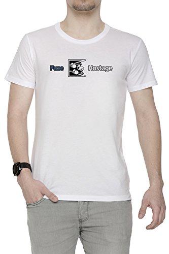 Erido Dont Fuze The Hostage! Uomo Girocollo T-Shirt Bianco Maniche Corte Dimensioni XL Men's White X-Large Size XL
