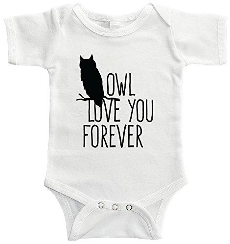 Starlight Baby Owl Love You Forever Bodysuit (6-12 Months, White)