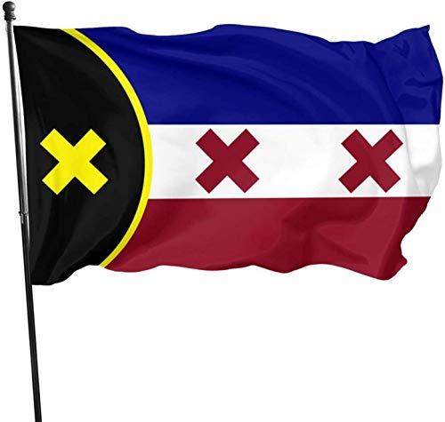Lmanburg-Flagge, 91 x 152 cm, für Innen- und Außenbereich, lebendige Farben, dekorative Gartenflagge