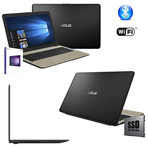 Asus Vivobook N4000 Portatile Pc Display Cpu Intel Dual Core Fino a 2.60Ghz/Ram 4Gb/SSD 256GB/Graphics Intel HD600/Hdmi Wifi Bluetooth/Windows 10pro/Open Office,tastiera querty,15.6 '