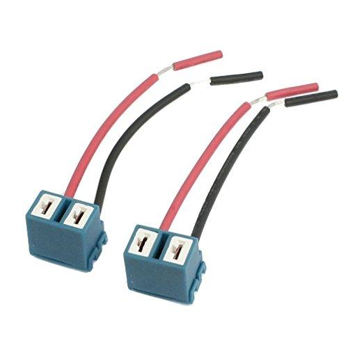 Enchufe - TOOGOO(R) 2pzs Enchufe de angulo H7 Arnes de cableado conector de lampara faro de extension de ceramica