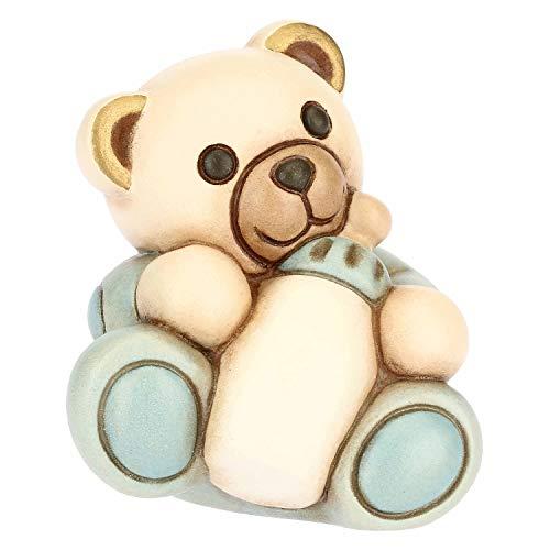 THUN - Teddy con Biberon per Bimbo - Bomboniera e Soprammobile - Formato Piccolo - Ceramica - 5,9 x 5,2 x 6,55 h cm