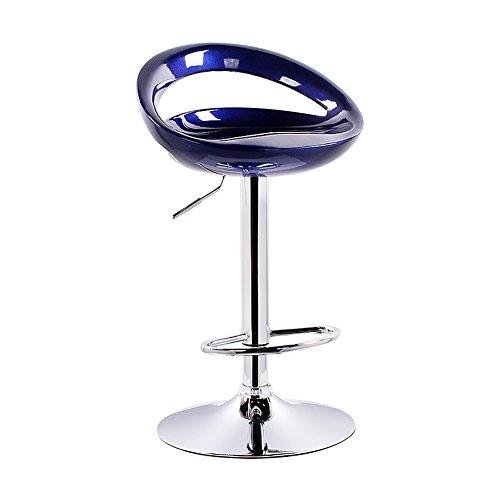 Peaceip Chaise robuste de tabourets élevés, matériaux d'ABS, taille réglable, rotation de 360 degrés, moderne (Couleur : Royal blue, taille : 38.5cm)