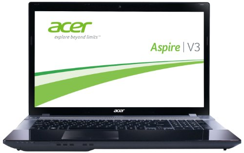 Acer Aspire V3-771G-736b321.26TBDWaii 43,9 cm (17,3 Zoll) Laptop (Intel Core i7 3630QM, 2,4GHz, 32GB RAM, 1TB HDD, 256 GB SSD, NVIDIA GT 650M, DVD, Blu-ray writer, Win 8) grau