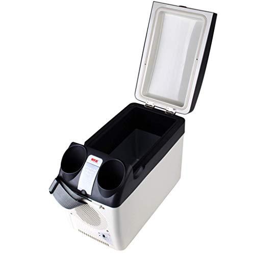 GGMMBX Tragbare Gefriertruhe Autokühlschrank Kühl- und Gefrierkombination 12L tragbarer leiser kampierender heißer und kalter Kühlschrank (Farbe : B)