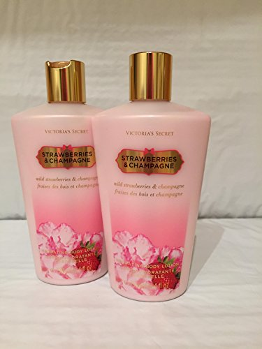 Victoria's Secret Fantases Strawberries and Champagne Hydrating Body Lotion 8.4oz (Set of 2)