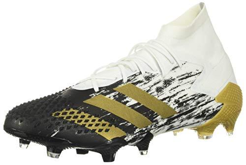 adidas Predator Mutator 20.1 Firm Ground Soccer Shoe (unisex-adult) White/Gold Metallic/Black 10.5