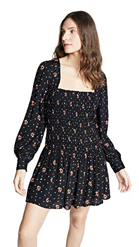 Free People Women's Two Faces Mini Dress, Black, X-Small