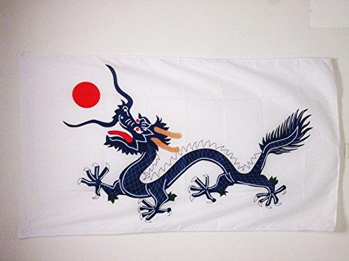 AZ FLAG Flagge China Qing-DYNASTIE 1889 150x90cm - CHINESISCHER Drache Fahne 90 x 150 cm Scheide für Mast - flaggen Top Qualität
