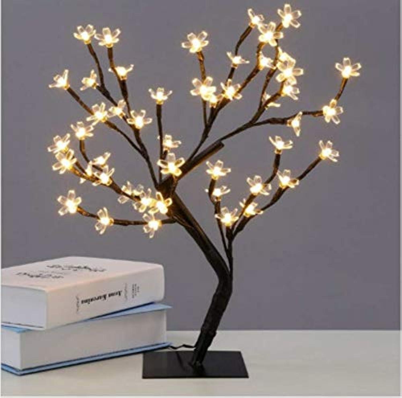 LIUJINHAI 48 LED Innenbeleuchtung Tischlampe Kirschbaum Nachtlicht Hause Schlafzimmer Urlaub 3 Farbe 3.6W Party Dekoration