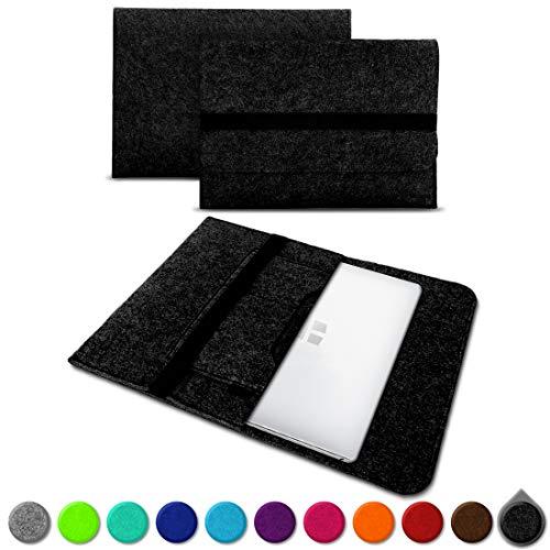 UC-Express Sleeve Hülle Odys Trendbook 14 Pro Tasche Filz Notebook Cover 14' Laptop Schutz Case, Farbe:Dunkel Grau (Dark Grey)