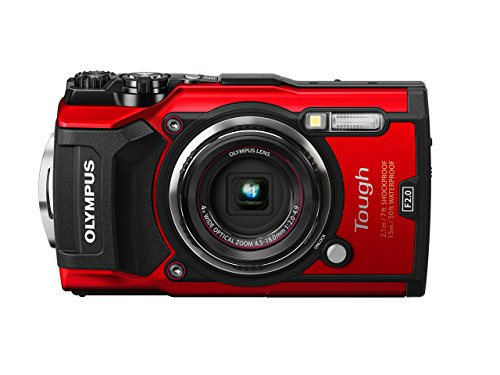 Olympus TG-5 Waterproof Camera with 3-Inch LCD, Red (V104190RU000) (Certified Refurbished)